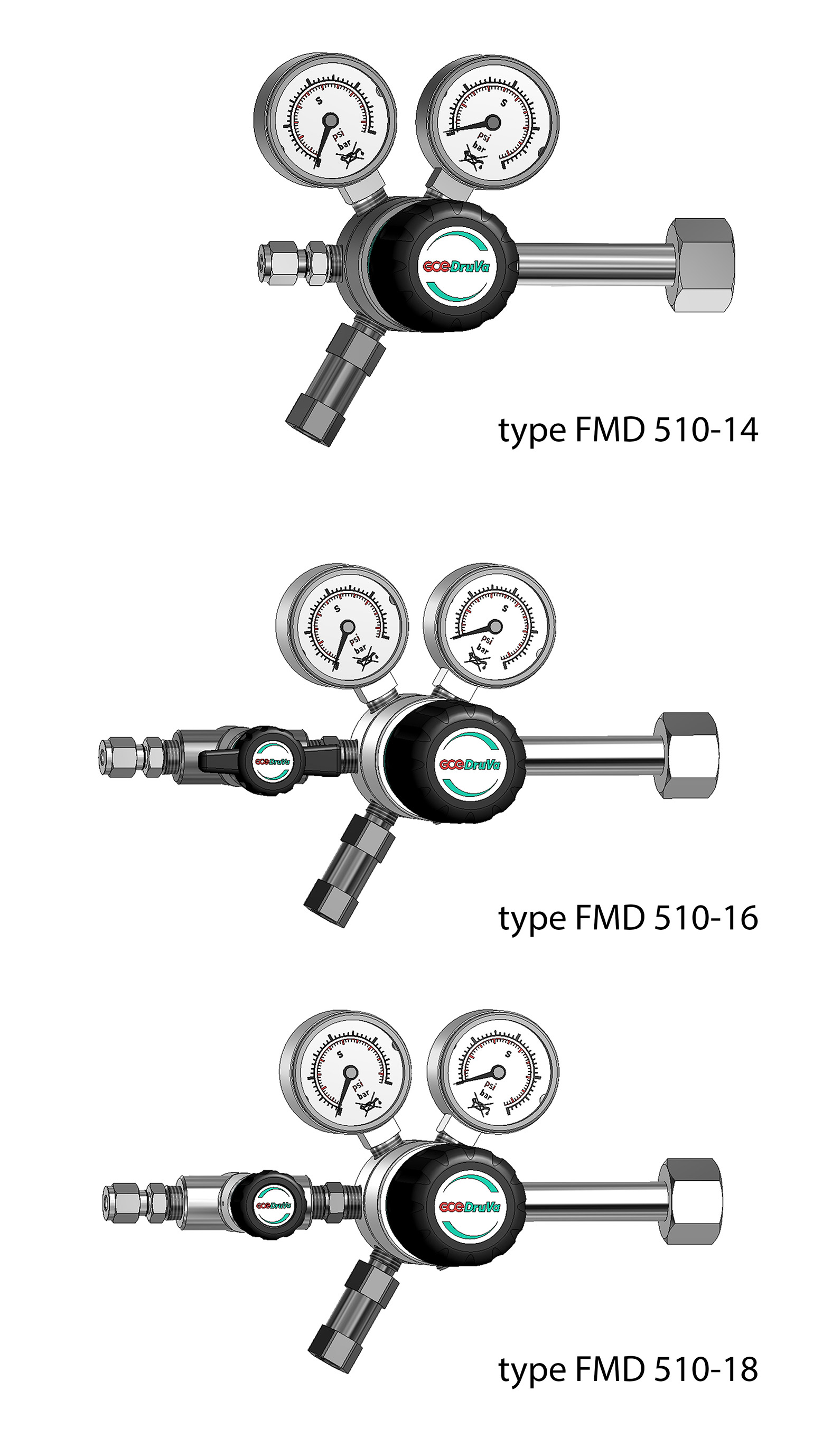 FMD510/540 1-STAGE REGULATOR LOW PRESSURE 6.0 page image
