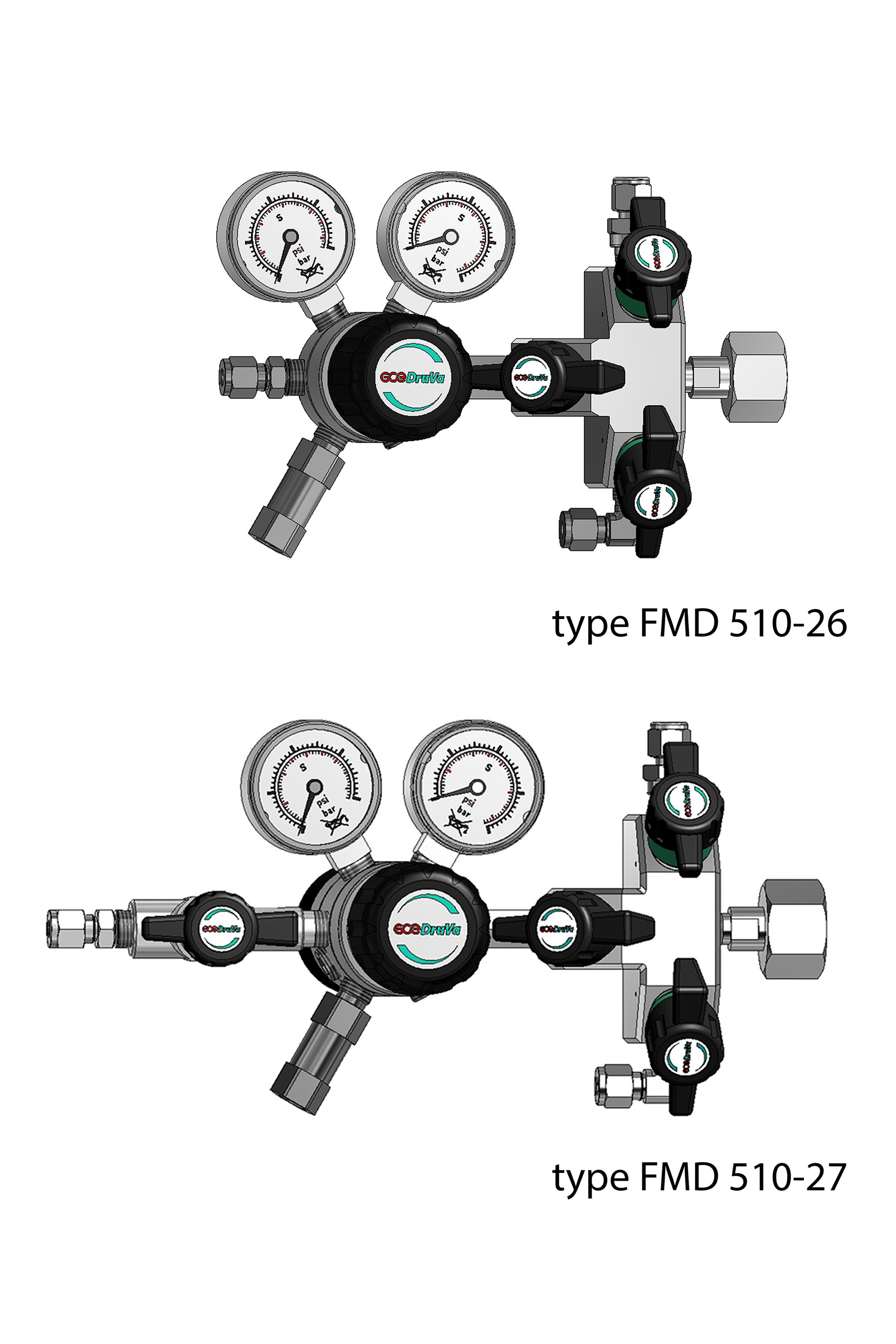 FMD 510/540 - DUAL STAGE REGULATOR 6.0 INERT PURGING, LOW INLET & VERY LOW OUTLET PRESSURE page image