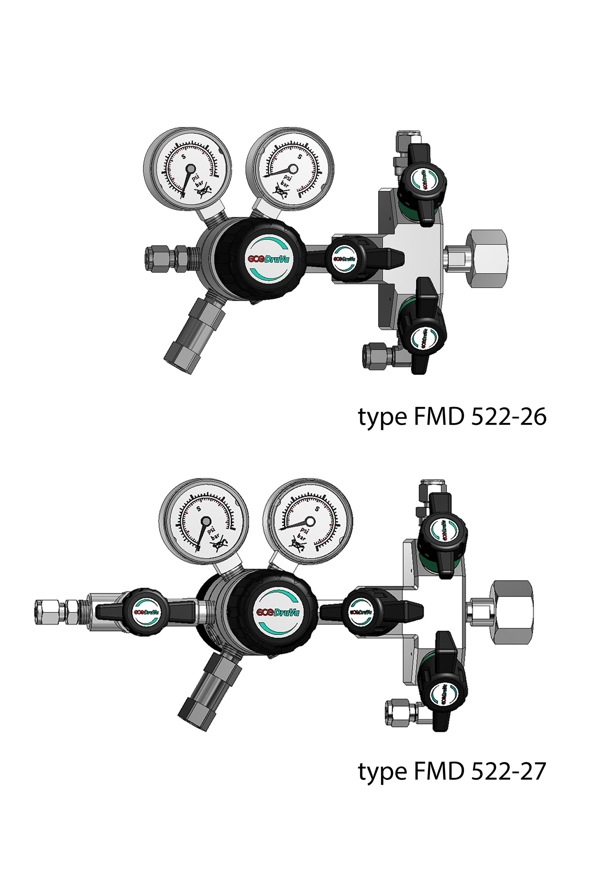 FMD 522/562 - DUAL STAGE REGULATOR 6.0 INERT PURGING ABSOLUTE PRESSURE page image