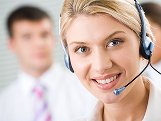 Customer support page image